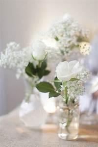 Kleine Weiße Vasen : hochzeit schleierkraut rosen diy tischdeko alles rund um ~ Michelbontemps.com Haus und Dekorationen