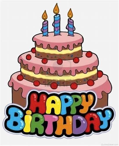 Birthday Cake Cartoon Happy Clipart Clip Cakes