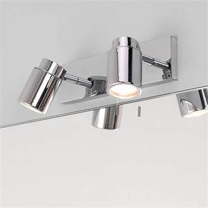 Astro 6121 Como Twin Spotlight Wall Fitting In Polished Chrome