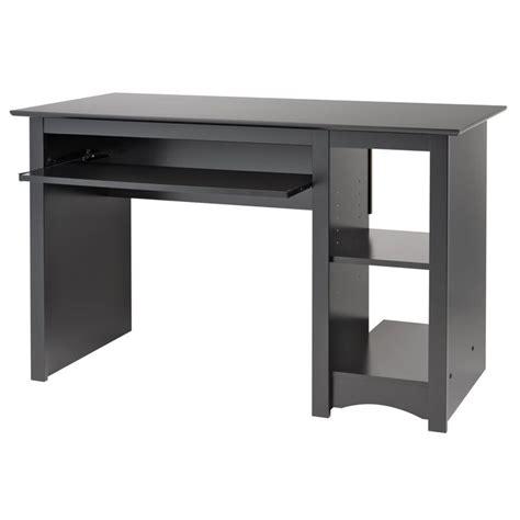 small dark wood desk sonoma small wood laminate computer desk in black bdd 2948