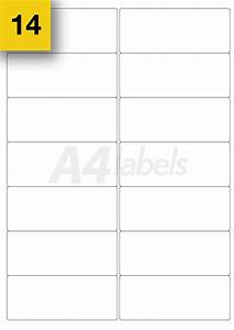 100 sheets a4 printer sticky labels 24 per sheet l7159 With template for labels 14 per sheet
