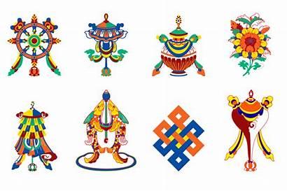 Symbols Auspicious Symbol Tibetan Buddhism Eight Buddha