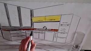 Dessin Intérieur Maison : dessin cuisine en perspective architecture d 39 int rieur ~ Preciouscoupons.com Idées de Décoration
