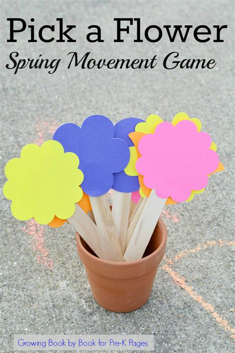 movement pre k pages 581 | Pick a Flower Spring Movement Game