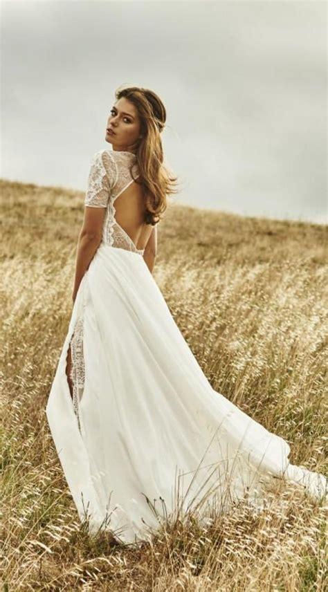 Vintage Boho Summer Beach Wedding Dresses Princess
