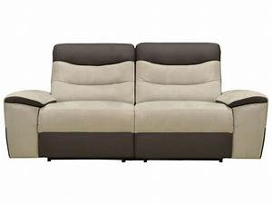 canape fixe relaxation electrique 25 places en tissu With canape cuir relax electrique conforama