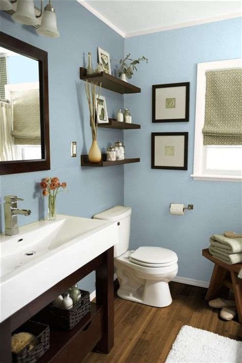 sw languid blue paint color  basement bath bathroom