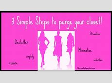 3 simple steps to purge your closet