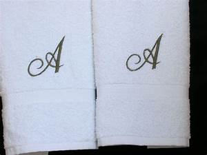 monogrammed towels letter a towels cotton hand towels With monogram letter towels