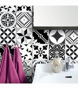 stickers pour carrelage salle de bain ou cuisine bento With carrelage autocollant pour salle de bain