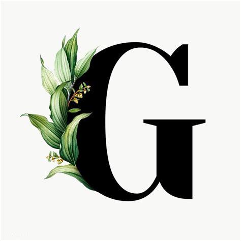 botanical capital letter  transparent png premium image