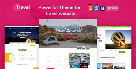 Tour, Travel Agency, Tour Booking Html 5 Template