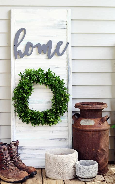 How To Make Rustic Decorations - rustic wall decor shutter diy buy this cook that