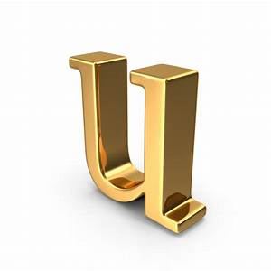 gold small letter u png images psds for download With small gold letters