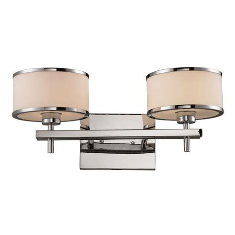 titan lighting utica 2 light polished chrome wall mount