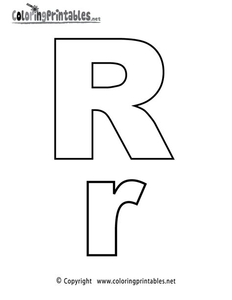Coloring Letter R by Alphabet Letter R Coloring Page A Free Coloring