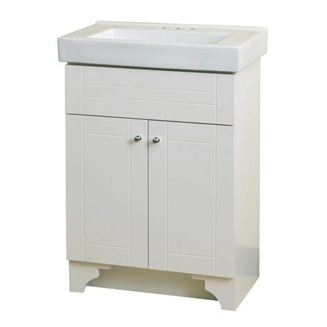 18 bathroom vanity with sink shop style selections white integral single sink bathroom