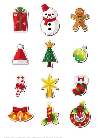 printable christmas stickers  printable papercraft templates