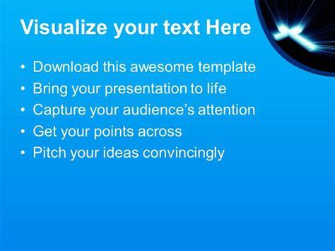 jesus loves  powerpoint templates cross blue lights
