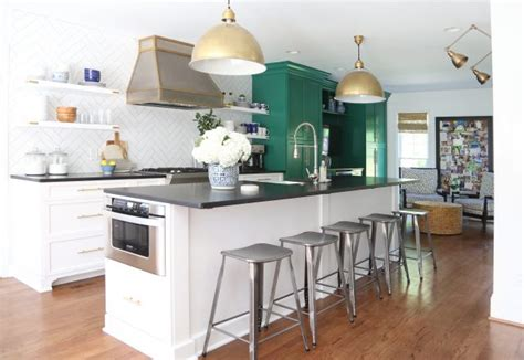 emerald green kitchen our green and white kitchen renovation emily a clark 3561