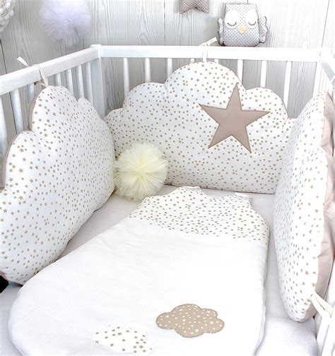 tour de lit bébé nuages fille ou garçon 3 grands