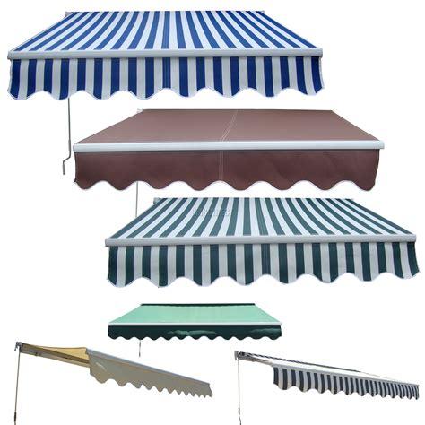 garden patio manual aluminium retractable awning canopy sun shade shelter  ebay