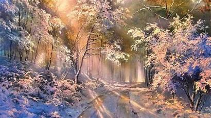 Sunny Winter Forest Wallpapers Snow Wallpapersafari Clouds