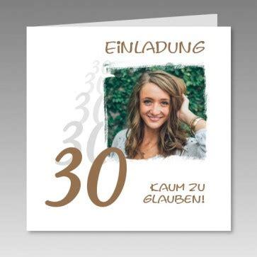 Die Einladung Zu Einem Runden Geburtstag by Individuelle Einladungskarte Zum 30 Mit Foto