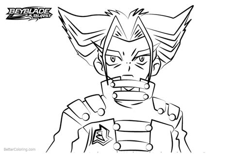 Beyblade Burst Coloring Pages Tala