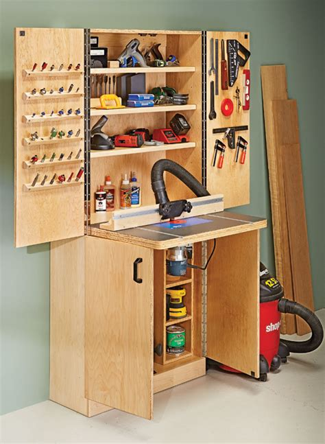 router table wall cabinet woodworking project