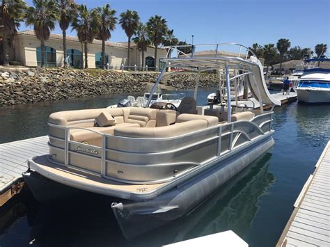 Deck Pontoon With Slide by Quot Tooned Out Quot 14 Passenger Pontoon Boat With Bar Sink Top
