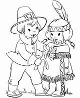 Coloring Native American Pages Indian Pilgrim Thanksgiving sketch template