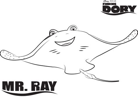 Finding Dory Printable Coloring Page