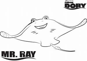 Disney's Finding Dory Mr. Ray Coloring Page | disney ...