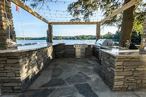 Outdoor, Kitchen, Installation, With, Custom, Built