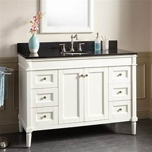 48quot chapman vanity for undermount sink white bathroom for White vanity cabinets for bathrooms