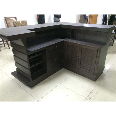 Black Home Bar Furniture by Eci Furniture Toscana Return Home Bar Black Oak Finish
