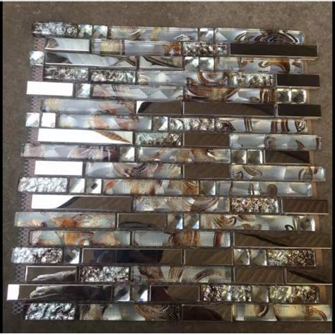mosaic glass backsplash kitchen glass tiles for kitchen backsplash silver