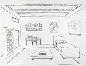 Drawing a Room Using One-Point Perspective