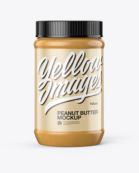 Download peanut butter jar stock vectors. Peanut Butter Jar Mockup in Jar Mockups on Yellow Images ...