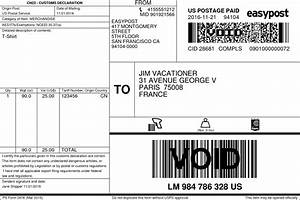 usps guide easypost With international shipping label template