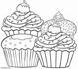 Cupcake Coloring Pages Adults Printable Cool2bkids sketch template