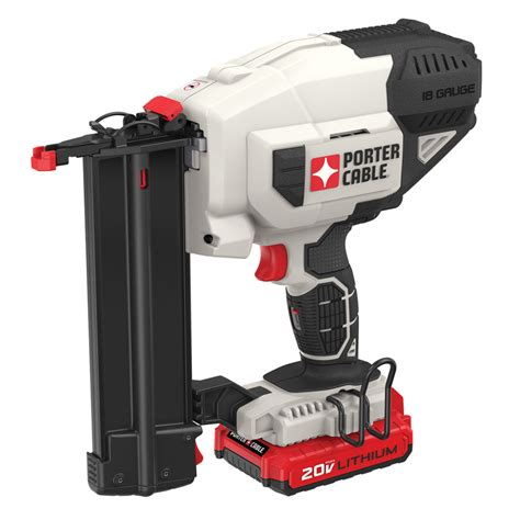 battery operated ls lowes shop porter cable 18 gauge 20 volt brad cordless nailer