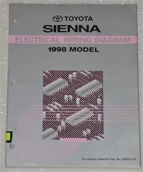 toyota sienna electrical wiring diagrams shop manual