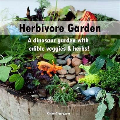 Dinosaur Garden Herbivore Build Gardening Fairy Fun