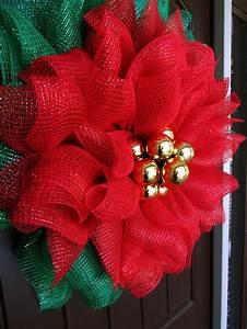 Poinsettia, Mesh, Wreath, Tutorial