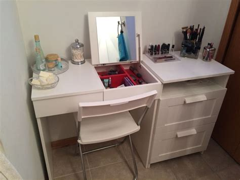 Diy Makeup Desk Ikea by 1000 Ideas About Ikea Dressing Table On White