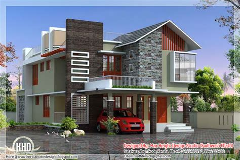 contemporary modern home design kerala floor plans house plans 85991