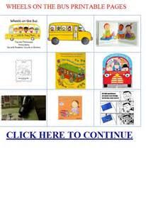 Printable Wheels On Bus