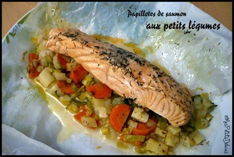 saumon cuisine papillotes de saumon aux petits légumes mes petits délices